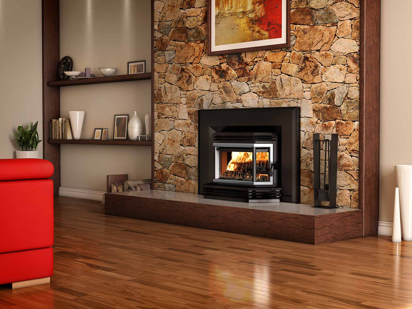 foyer encastrable à bois (insert)
